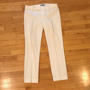 gap white cropped dress pants